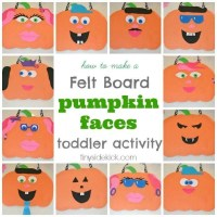 Felt Board Pumpkin Faces {& 6 more things to make for Halloween}