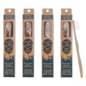 Bamboo Toothbrush Kids 4-Pack