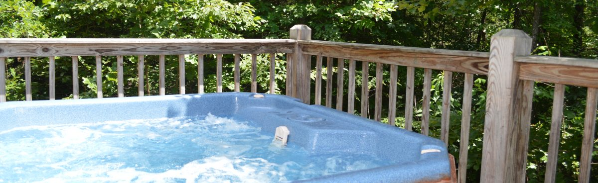 private hot tub in this townsend cabin