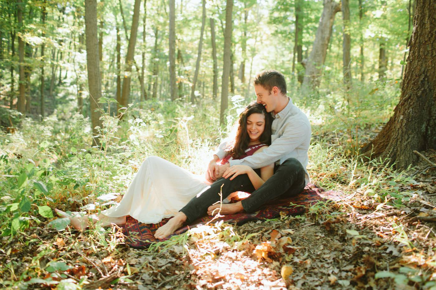 Tire Swing Photography | Cincinnati Ohio Woodland Forest Engagement session_0011