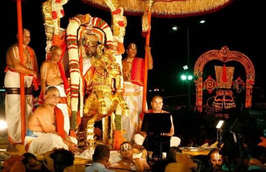 Lord Sri Venkateswara On Aswa Vahanam On The 8th day In Brahmotsavams,2014