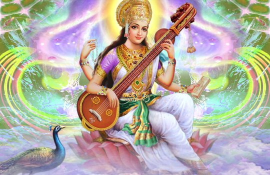 Hindu Goddess Of Learning Saraswathi Devi