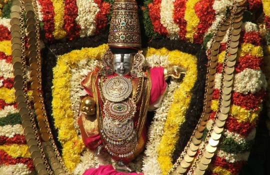 Lord Sri Venkateswara In Brahmotsavam On Tirumala Hills
