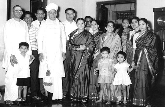 M.S Subbulakshmi And Sadasivam With Dr.Sarvepalli Radhakrishnan
