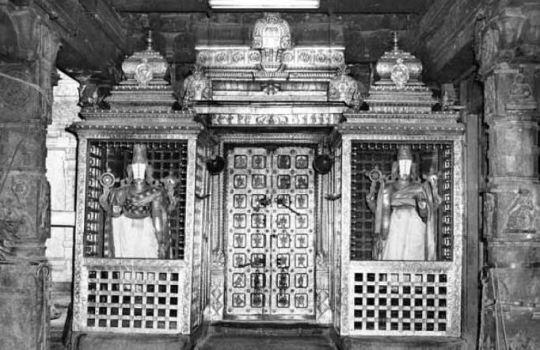 A Very Rare And Old Photograph Of The Bangaru Vaakili Of Tirumala Temple