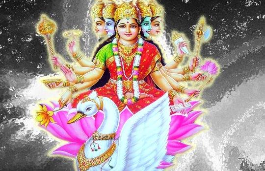 Hidu Goddess Gayathri