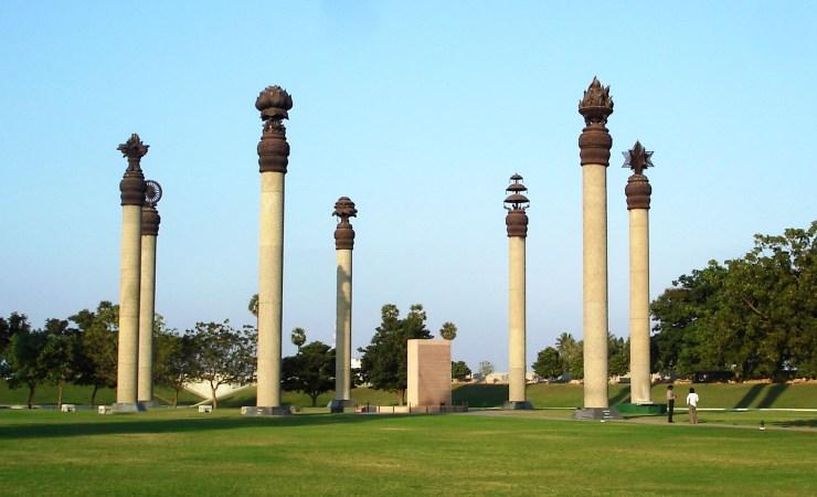 Rajiv Gandhi Memorial At The Blast Site In Sri Perumbudur