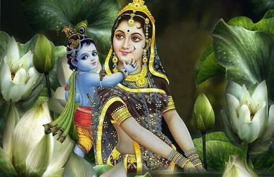 Lord Sri Krishna With His Mother Yashoda
