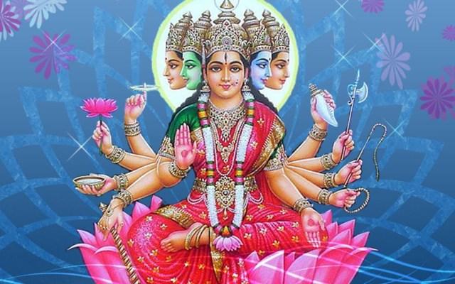 Holy Hindu Goddess Gayathri