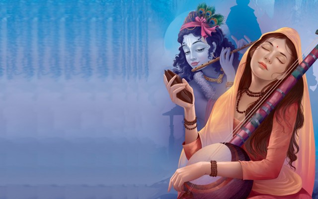 Meera Bai And Shree Krishna