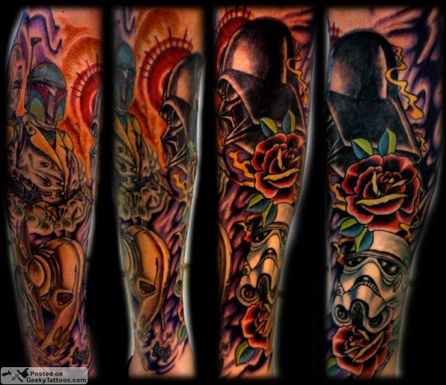 Star-Wars-Sleeve-tattoo