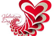 Valentine's Day Paper-cut Design Vector 03