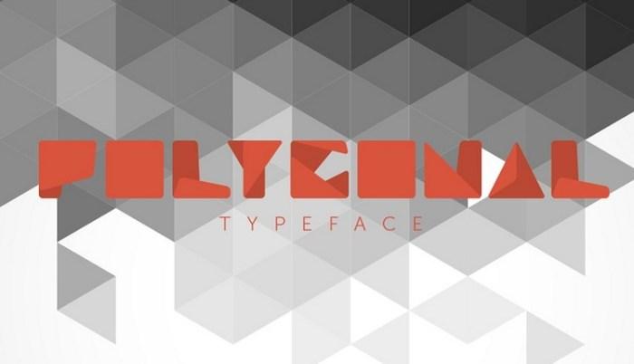 Polygonal typeface Font Download