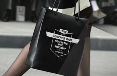 Realistic Leather Bag PSD Mockup