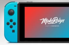 Realistic Nintendo Switch Vector PSD