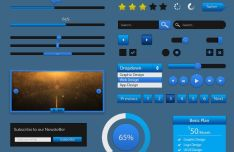 Blue GUI Kit PSD