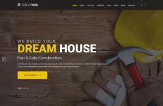 Construction Web Template PSD