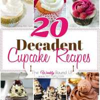 20 Decadent Cupcake Recipes {The Weekly Round Up}