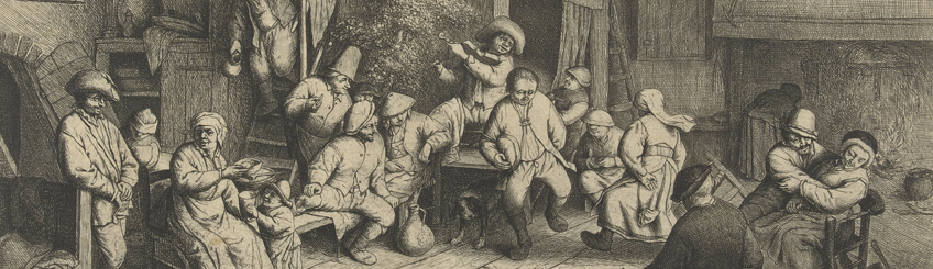 Dance at the Inn, Adriaen van Ostade
