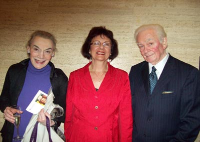 Marian Seldes, Marti LoMonaco, and Louis Rachow, TLA Awards Ceremony, 2009 (Photo: Angela Weaver)