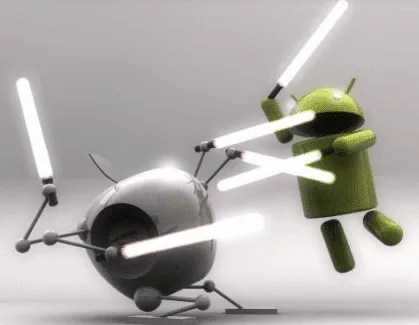 iOS and Android in epic battle