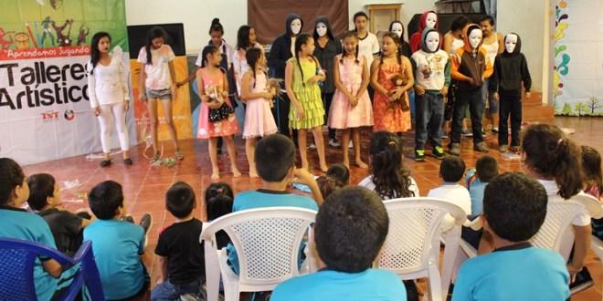 TNT continúa el Programa de Talleres Artísticos en Azacualpa