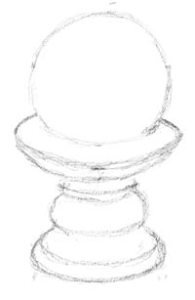 Ball Candle Line Drawing