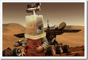 La niña espacial del futuro.