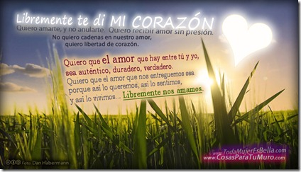 El amor es libre...