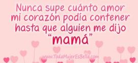 Nunca supe cuánto amor mi corazón podía contener hasta que alguien me dijo mamá