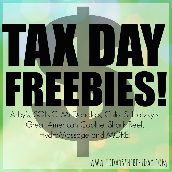 Tax Day FREEBIES  Deal Of The Day