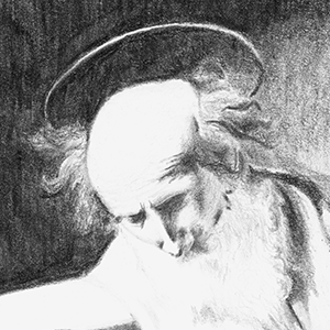 Drawing - Saint Jerome Writing - After Caravaggio