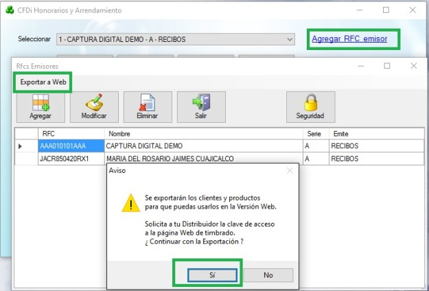 cfdi-honorarios-exportar-a-web