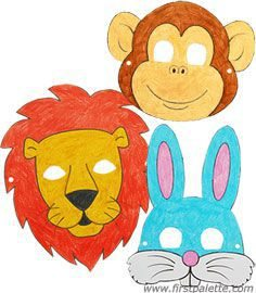 mascaras papel animales