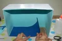 como hacer diorama caja
