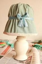 Como decorar una lampara con tela