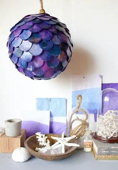 Como hacer una lampara casera colgante todo manualidades - Como hacer lamparas colgantes ...