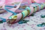Como hacer palitos con cintas para niñas
