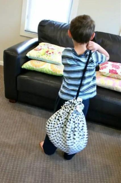 bolsas para guardar juguetes