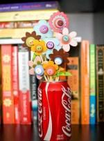 Manualidades de niños para el dia de la madre: bouquet primaveral de juguete