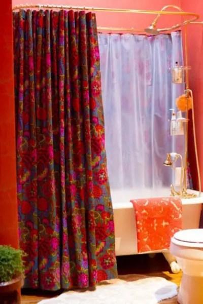como hacer cortinas para el baño