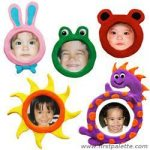 Manualidades de niños para el dia de la madre: mini retratos imantados