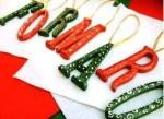 Manualidades para navidad originales: apellido colgante