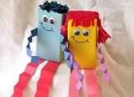 Como hacer muñecos reciclando cajas de jugo