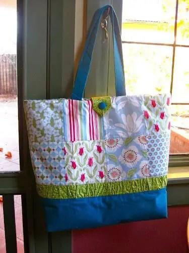 como hacer bolsos de patchwork