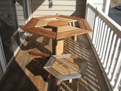 Como hacer una mesa hexagonal con palets todo manualidades - Hacer mesa palets ...