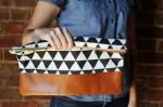 Como hacer una cartera de algodon reforzada con cuero
