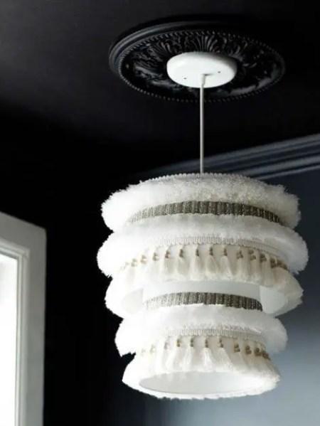 Como hacer una hermosa pantalla de lampara colgante todo - Como hacer una lampara de techo ...