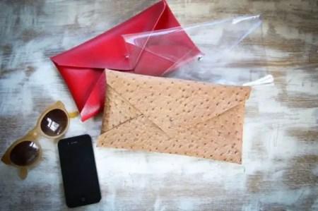 como hacer carteras de mano
