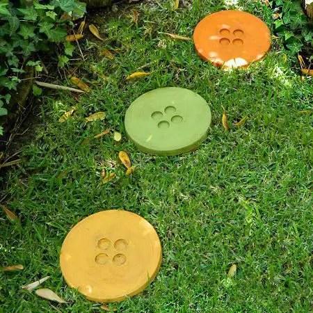 como hacer baldosas de cemento para jardin